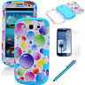 Colorful Hybrid Rubber Matte Case Hard Cover For Samsung Galaxy S3 S III i9300