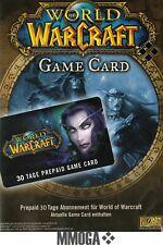 World of Warcraft GameCard 30 Tage - WoW EU Game Card 30 Tage Digital Code - EU