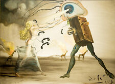 Salvador Dali Modern Rhapsody giclee  41 cm x 29.7 cm canvas print poster