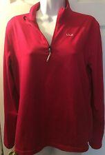 LOLË Essential Berry Magenta1/2 Zip Run Pull Over Shirt Jacket Yoga Sz L