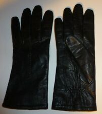 Fownes Brothers Ladies Leather Dress Gloves Dark Brown Lined Size 8