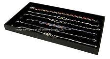 1 Black Tray 6 Slot Black Necklace Pendant Chain Display