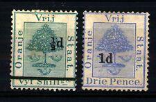 ORANGE - 1881-1897 - Francobolli del 1878 con nuovo valore  e linea sovrastamp.