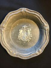 Catholic Collectible - Vintage Bowl with Bishop Coat of Arms - Pewter