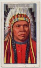 Mangas Colorado Chief Apache Native American Indian Tribe 1920s Trade Ad Card
