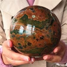 2210g Natural Rainforest Jasper Sphere Crystal Ball from Australia  #4