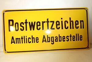EMAILSCHILD vintage POSTWERTZEICHEN Amtliche Abgabestelle 42cm x 21cm BUNDESPOST