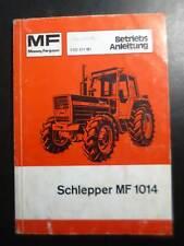 Massey Ferguson Schlepper 1014 Betriebsanleitung