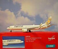Herpa Wings 1:500 Boeing 737-800  Myanmar  XY-ALB  530538  Modellairport500
