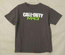 S6505 Call Of Duty Men's Medium Gray Short Sleeve Crew Neck MW3 Graphic Tee