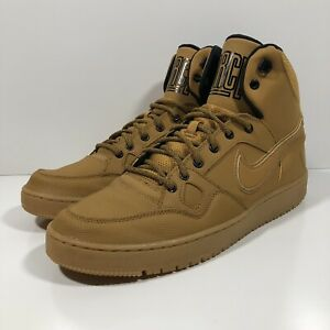 Nike Son of Force Mid-Winter Mens High Top Trainers SZ 12 Beige Khaki 807242-770