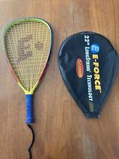 "E-Force BEDLAM Racquetball Racquet 22"" Long String 107 In  195G Carbon Fibre !!!"