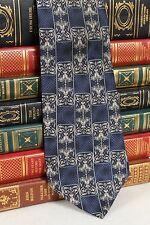 Blue & Silver Geometric Van Heusen Italian Silk Tie T485