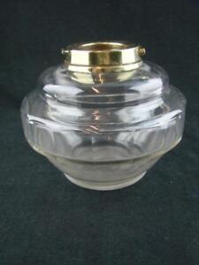 SUPERB FACET CUT GLASS DROP IN / TABLE TOP OIL LAMP FONT, BAYONET FIT