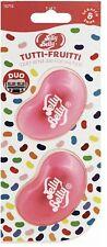 Jelly Belly Tutti Fruitti Car Air Freshener, Mini Vent 3D Gel - Duo Pack