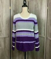 Women's Karen Scott NWT Career/Work Cable Knit Crew Neck Sweater Size X-Large