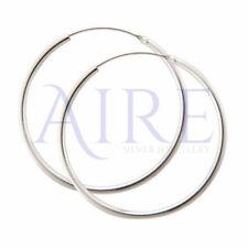 925 Sterling Silver 50mm Hoop Sleeper Earrings Jewellery