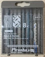 Black & Decker | Piranha Jigsaw Blade Set | 8pcs X28115 | Suits other models