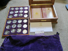 2002 - 2003Royal Mint Golden Jubilee Crown Set 24 Coins Silver Proof Boxed/COA S
