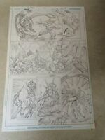WARLORD #14 original art, STUNNING BATTLE PAGE, DETAILED, 2010, DRAGONS LAIR!!