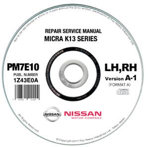 Nissan Micra K13 (2010-2015) manuale officina workshop manual