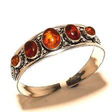 Silver Overlay Amber Cuff Jewelry