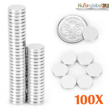 100x N35 Super Strong Magnet 10mm x 2mm Round Disc Rare Earth Neodymium Magnets