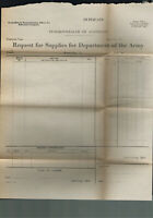 1941 Rare Old Australian Army Request for Supply Form
