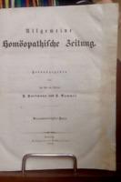 Allgemeine Homöopathische Zeitung 1852 Hrg. von F. Hartmann und F. Rummel