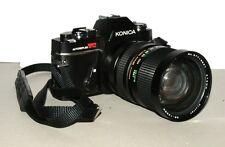 Konica Autoreflex TC Black SLR Film Camera NO Battery No Film w/ Vivitar Lens