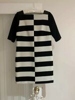 Milly New York Black & White Designer Dress With Leather Net A Porter Size 2 6
