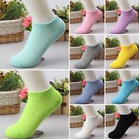 LOT 10Pairs/Pack Women Low Cut Cotton Socks Fashion Boat Ankle Socks Multi Color