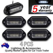 4X White LED REAR LICENSE NUMBER PLATE LIGHT LAMP TRUCK BOAT CARAVAN TRAILER 12V