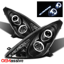 Fits 2000-2005 Toyota Celica Black Bezel Halo Projector LED Headlights Lamp L+R