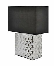 Square Metallic lamp with black Shade