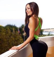 Sexy Girl One Piece Playsuit Fitness Tights Jumpsuits Backless Yoga Bodysuit