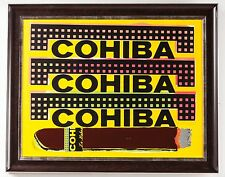 Steve Kaufman Cohiba Cigar Original Oil Painting Man Cave Lady Layer Tobacco