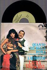 """LAURA TROSCHEL QUANTO SEI BELLA ROMA + L'AUTOSTOP 1977 CINEVOX 7"""" 45 GIRI"""
