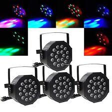 4X RGB 18LED PAR CAN DJ Stage Light DMX Lighting For Disco Party Wedding Light