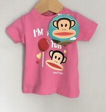 Paul Frank Small Paul Pink Baby T-shirt BNWT Size 0-3 Months