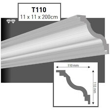 50 Meter Styroporleisten Zierprofile Stuckprofile Stuckleiste 110x110mm   T110