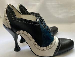 John Fluevog Pumps Oxford Listen Up Mansfield High Heels Lace Size 6.5 Rare!
