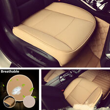 1PC Beige Wearproof PU Leather Car Front Seat Cover Cushion Mat Pad Protector