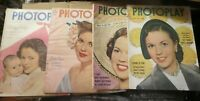 4 vintage PHOTOPLAY Magazines with Shirley Temple covers 1947- 1950