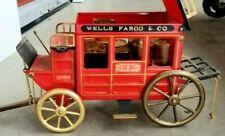 Vintage Wells Fargo U.S. Mail Tin Stagecoach Mini Bar Shot Glasses  & Bottle