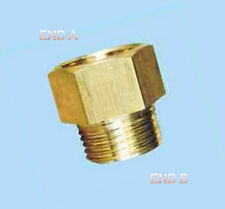 "1/8"" Female NPT to 1/8"" Male NPT Coupling Brass Pipe Fitting Gauge adapter N-8N"