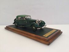 1/43 1933 Mercedes Benz 380 W22 Cabriolet B Top Up Green Tires on the back EMC