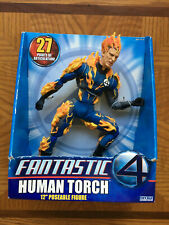 "Marvel Human Torch 12""  Poseable Action Figure -  Fantastic Four - Toy Biz 2005"