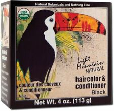 Natural Hair Color & Conditioner Black, Light Mountain, 4 oz