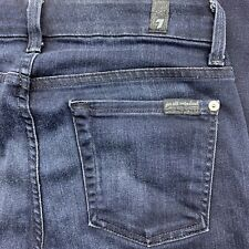 7 For All Mankind Womens Modern Straight Stretch Mid Rise Jean Size 25 26x30